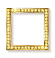 gold frame cinema on a white background vector image