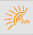 hand drawn sun icon on isolated background vector image vector image