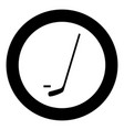 hockey sticks and puck icon black color in circle vector image vector image