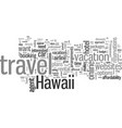 how to make your hawaii travel plans vector image vector image