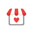 icon concept shop store with heart vector image vector image