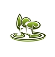 Icon of green trees in a park vector image