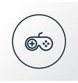 joystick icon line symbol premium quality vector image vector image