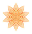 lotus flower orange vector image