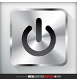 Metal Start Power Button vector image vector image