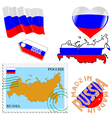 national colours of Russia vector image vector image