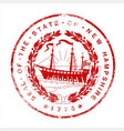 new hampshire seal rubber stamp vector image vector image