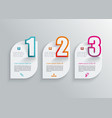 number option banners design can be used for vector image vector image