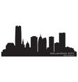 Oklahoma City skyline Detailed silhouette vector image
