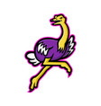 ostrich running mascot vector image vector image