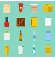 Packaging flat icons set vector image vector image