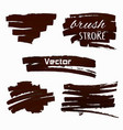 paint splash set brush strokes vector image