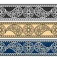 Paisley horizontal patterns vector image vector image