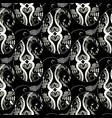 paisleys seamless pattern abstract black floral vector image vector image