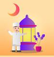 people happy mubarak people who celebrate ramadan vector image vector image