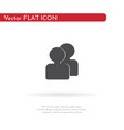 people icon for web business finance and vector image