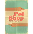 pet shop poster tax vector image vector image