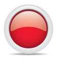 popular red color web button 3d vector image vector image