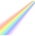rainbow icon shape stripes isolated on white vector image