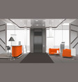 realistic lobby interior vector image vector image