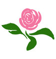 rose blossom tattoo graphic art symbol flower vector image