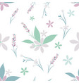 seamless pattern of various flowers vector image