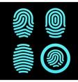 Set of fingerprints vector image vector image
