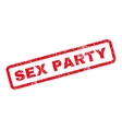 Sex Party Rubber Stamp vector image vector image