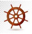 ship steering wheel isolated on transparent vector image