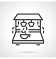 Simple line coffee machine icon vector image vector image