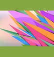 spikes colors vector image vector image