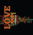 the power of love text background word cloud vector image vector image