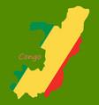 waving fabric flag map of democratic republic of vector image vector image