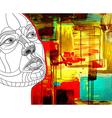 women face construction on acrylic abstract vector image vector image