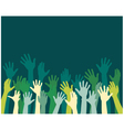 rising hands vector image