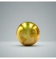 3D metallic globe vector image vector image