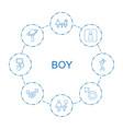 8 boy icons vector image vector image