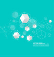 abstract background with transparent cubes vector image