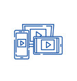 adaptive video design line icon concept adaptive vector image vector image