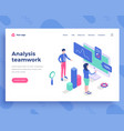 analysis teamwork concept office people and vector image