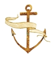 Anchor with stripe vector image vector image
