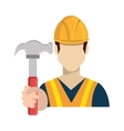 avatar worker holding a hammer tool vector image