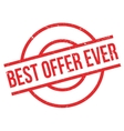 Best Offer Ever rubber stamp vector image vector image