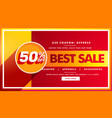 best sale banner and sale voucher design vector image vector image