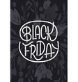 Black Friday lettering on dark background vector image vector image