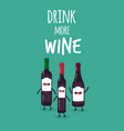 bottles wine vector image