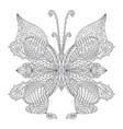 butterfly coloring page tattoo art design vector image vector image