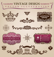 Calligraphic vintage elements vector image vector image
