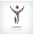 champion people sign vector image vector image