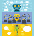 chat robot banner concept set flat style vector image